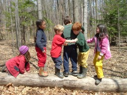 Children and Trees at Earth Arts